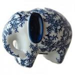 ゾウの陶器貯金箱